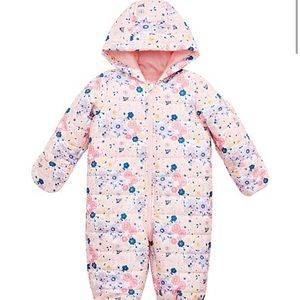 First Impressions Floral Puffer Snow Suit 18mo